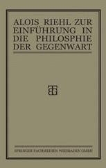 Zur Einführung in die Philosophie der Gegenwart