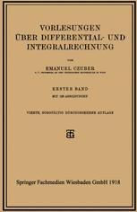 Vorlesungen über Differential- und Integralrechnung