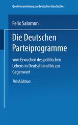 Die Deutschen Parteiprogramme