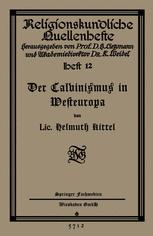 Der Calvinismus in Westeuropa