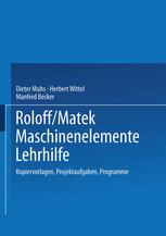 Roloff/Matek Maschinenelemente Lehrhilfe