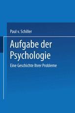 Aufgabe der Psychologie