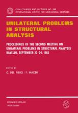 Unilateral Problems in Structural Analysis