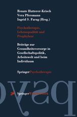 Psychotherapie, Lebensqualität und Prophylaxe