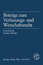 Beiträge zum Verfassungs- und Wirtschaftsrecht
