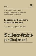 Leipziger mathematische Antrittsvorlesungen