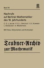 Nachrufe auf Berliner Mathematiker des 19.Jahrhunderts