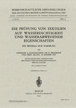 Die Prüfung von Textilien auf Wasserdichtigkeit und wasserabweisende Eigenschaften