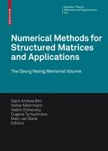 Numerical Methods for Structured Matrices and Applications