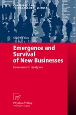 Emergence and Survival of New Businesses