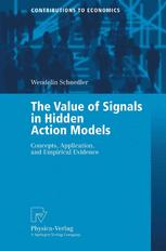 The Value of Signals in Hidden Action Models