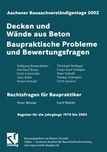 Aachener Bausachverständigentage 2002