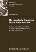 The Uncertainty-Governance Choice Puzzle Revisited