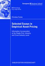 Selected Essays in Empirical Asset Pricing