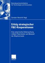 Erfolg strategischer F&E-Kooperationen