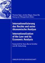 Internationalisierung des Rechts und seine ökonomische Analyse