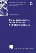 Buying Center-Analyse auf der Basis von Vertriebsinformationen