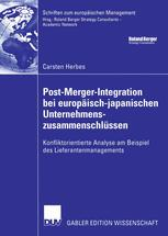 Post-Merger-Integration bei europäisch-japanischen Unternehmenszusammenschlüssen