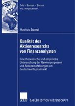 Qualität des Aktienresearchs von Finanzanalysten