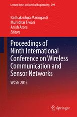 Proceedings of Ninth International Conference on Wireless Communication and Sensor Networks