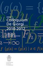 Colloquium De Giorgi 2010–2012