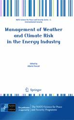 Management of Weather and Climate Risk in the Energy Industry