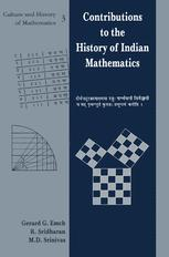 Contributions to the History of Indian Mathematics