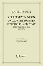 Zur Lehre vom Wesen und zur Methode der eidetischen Variation