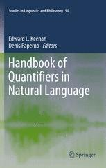 Handbook of Quantifiers in Natural Language