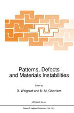 Patterns, Defects and Materials Instabilities