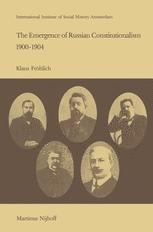 The Emergence of Russian Constitutionalism 1900–1904