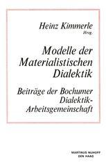 Modelle der Materialistischen Dialektik