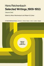 Hans Reichenbach Selected Writings 1909–1953