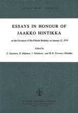 Essays in Honour of Jaakko Hintikka