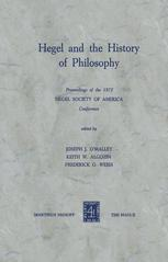 Hegel and the History of Philosophy
