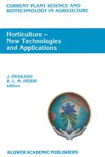 Horticulture — New Technologies and Applications