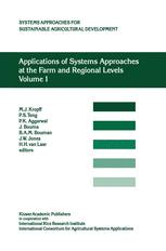 Applications of Systems Approaches at the Farm and Regional Levels Volume 1