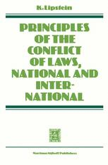 Principles of the Conflict of Laws National and International