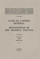 Actes du Conseil Général Proceedings of the General Council