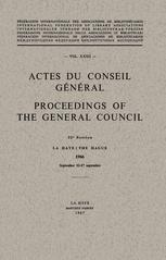 Actes du Conseil Général / Proceedings of the General Council