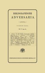 Bibliographische Adversaria