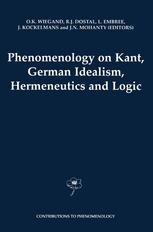 Phenomenology on Kant, German Idealism, Hermeneutics and Logic