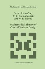 Mathematical Theory of Control Systems Design