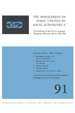 The Management of Public Utilities by Local Authorities II