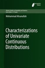 Characterizations of Univariate Continuous Distributions :