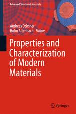 Properties and Characterization of Modern Materials