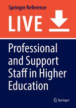 Professional and Support Staff in Higher Education