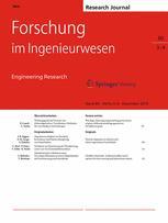 Forschung im Ingenieurwesen