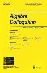 Algebra Colloquium