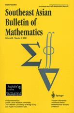 Southeast Asian Bulletin of Mathematics